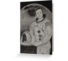 Neil Armstrong Drawing Greeting Card