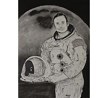 Neil Armstrong Drawing Photographic Print