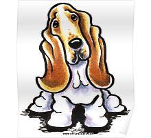 Basset Hound Sit Stay Poster