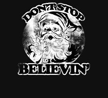 Don't stop believin' Santa Claus for Christmas Women's Fitted Scoop T-Shirt