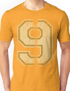 Vintage Distressed Sports Number 9 Unisex T-Shirt