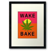 Wake & Bake Marijuana Framed Print