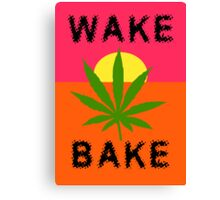 Wake & Bake Marijuana Canvas Print