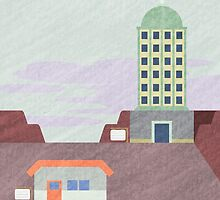 Kanto Towns - Lavender Town by Emily Brown