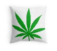 Marijuana Leaf Throw Pillow