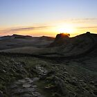 Sunrise from Cuddys Crag on Hadrian's Wall by Joan Thirlaway