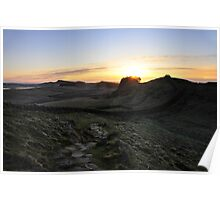 Sunrise from Cuddys Crag on Hadrian's Wall Poster