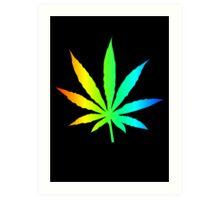 Rainbow Marijuana Leaf Art Print