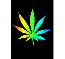 Rainbow Marijuana Leaf Photographic Print