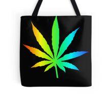 Rainbow Marijuana Leaf Tote Bag