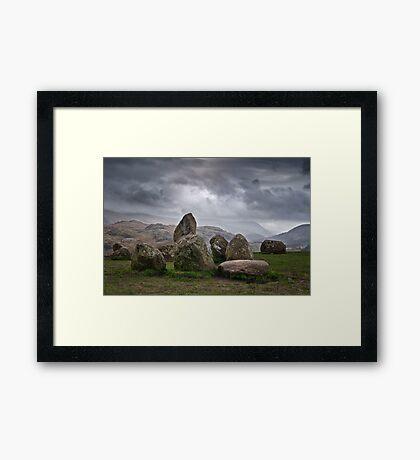 castlerigg stone circle Framed Print