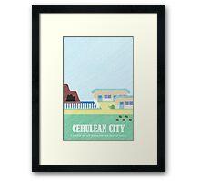Kanto Towns - Cerulean City Framed Print