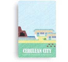 Kanto Towns - Cerulean City Canvas Print