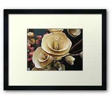 Wooden Roses Framed Print