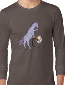 Unicorns Piss Rainbows? Long Sleeve T-Shirt