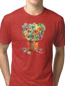 Colorful Flowers Tri-blend T-Shirt