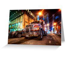 Mack Truck NYC Greeting Card