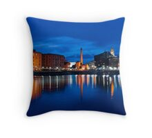 salthouse dock, liverpool Throw Pillow