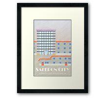 Kanto Towns - Saffron City Framed Print