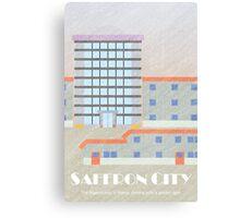 Kanto Towns - Saffron City Canvas Print