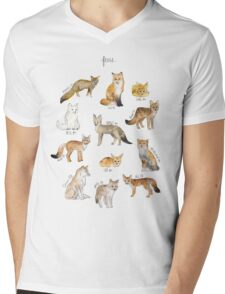 Foxes Mens V-Neck T-Shirt