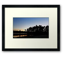 Winter Sunsets Framed Print