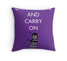 Extermine and Carry On - Plum Throw Pillow