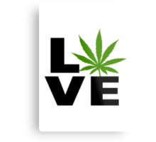 I Love Marijuana Metal Print