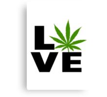 I Love Marijuana Canvas Print