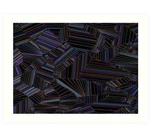 Zig black Art Print