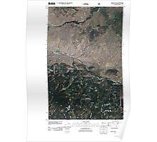 USGS Topo Map Washington State WA Mount Hull 20110429 TM Poster