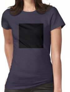 Black Square  Womens Fitted T-Shirt