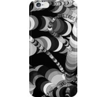 Black and White Worms iPhone Case/Skin