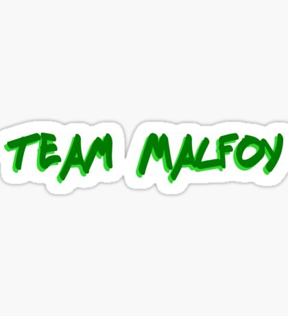 Team Malfoy Sticker