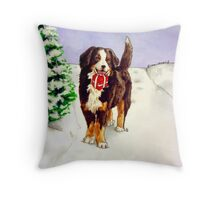 Snowy Delivery Throw Pillow