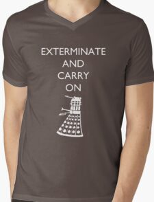 Exterminate and Carry On - Dark Tee Mens V-Neck T-Shirt