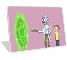 Rick & Morty makin' a portal Laptop Skin