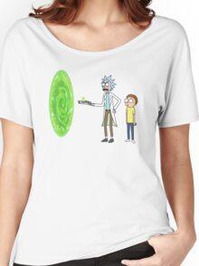 Rick & Morty makin' a portal Women's Relaxed Fit T-Shirt
