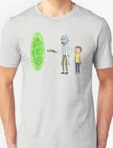 Rick & Morty makin' a portal Unisex T-Shirt