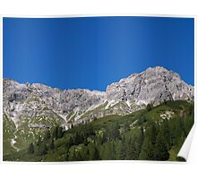 Cloudless day in the Austrian Alps. Poster