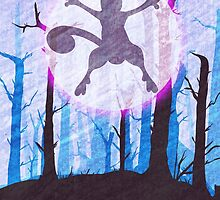Mewtwo print by Emily Brown