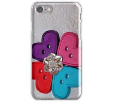 Button Heart Flower [iPhone - iPod Case/Skin] iPhone Case/Skin