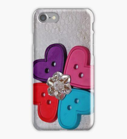 Button Heart Flower [iPhone - iPod Case/Skin] iPhone Case/Skin