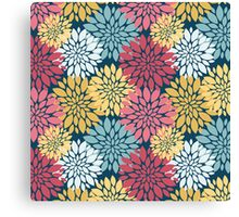 Colourful Floral Blooms Pattern Canvas Print