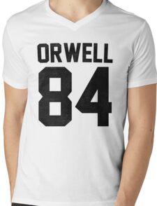 Orwell 84 Jersey - Black Mens V-Neck T-Shirt