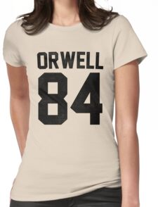 Orwell 84 Jersey - Black Womens Fitted T-Shirt