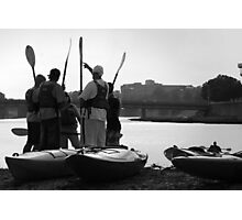 Kayakers Photographic Print