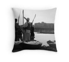 Kayakers Throw Pillow