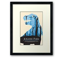 Jurassic Park alternative poster Framed Print
