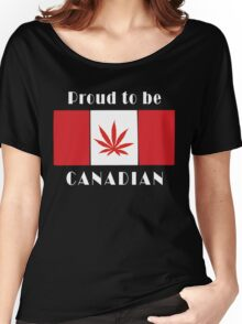 Canadian Flag Weed Women's Relaxed Fit T-Shirt